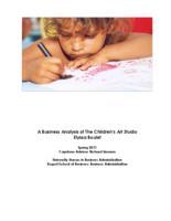 A Business Analysis of the Children's Art Studio