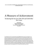 A Measure of Achievement: Evaluating the Success of the IGF and GAID after 5 Years