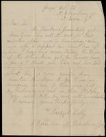 "Letter from Bridget Kelly (Mrs. James Kelly) to ""Dear Sir"", October 29, no year."