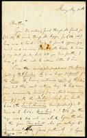 Letter from J. Egan (James Stephens) to John O'Mahony, May 30, 1862
