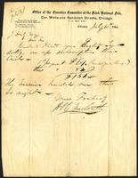 Letter from H. O'C. MacCarthy (McCarthy) to J. Daly (James Stephens), July 15, 1864