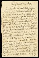Letter from Billy O'Shea to John O'Mahony, October 12, 1865