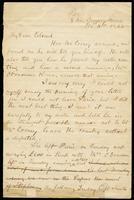 Letter from Edmund O'Leary to John O'Mahony, November 16, 1865