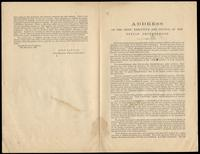 Address of the Chief Executive and Council of the Fenian Brotherhood given by John Savage [Chief Executive], November 10, 1869