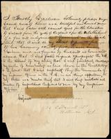 A pledge by Timothy O'Sullivan to work for the liberation of Ireland as a member of the Fenian Brotherhood, undated, Baltimore, Maryland