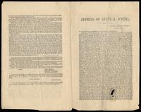 Address of General O'Neill, in prison at Windsor, Vermont, October, 1870.