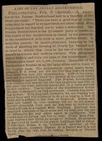 Aims of the Fenian Brotherhood (The Press?, Philadelphia, February 9, no year)