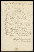 Letter from Hugh Cunningham to William M. Griffin, April 30, 1866