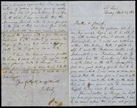 Letter from J. Daly (James Stephens) to John O'Mahony, April 28, 1864