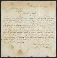 Letter from Andrew Stolley to John Savage, October 4, 1867