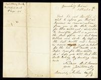 Letter from Bernard Mullin to John O'Mahony, September 4, 1865