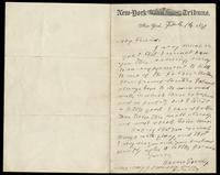 Letter from Horace Greeley, February 16, 1871