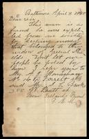 "Letter ""From Irelands Friend F.M.M"" to Dear Sir, April 8, 1880"