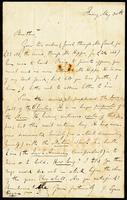 Letter from J. Egan (James Stephens) to John O'Mahony, May 30, 1862