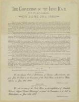 Broadside for 'Convention of the Irish Race' to be held in Philadelphia on June 28, 1880, ca. 1880