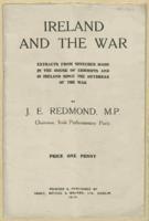 Ireland and the War' written by J. E. Redmond, 1915