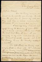 Letter from Edmund O'Leary to John O'Mahony, November 16, 1865