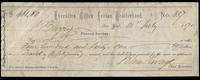 Check from the Executive Office Fenian Brotherhood, New York for $401.80, endorsed by John Barry (Financial Secretary) and John Savage (Chief Executive) and made out to J.S. (James Stephens?), dated July 21, 1870