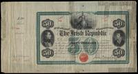 Fifty dollar bond (The Irish Republic), no. 709, signed by John O'Mahony, January 31, 1866
