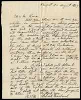 Letter from Charles MacTavish to Jeremiah O'Donovan Rossa, August 20, 1877