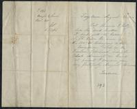 "Letter from ""Treasurer"" - Margaret O'Connell to T.J. Kelly , August 31, 1866"