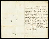Letter from Daniel McCarthy to John O'Mahony, September 2, 1865