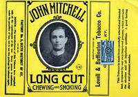 John Mitchell Long Cut Chewing and Smoking Tobacco label, Lovell & Buffington Tobacco Co., Covington, K.Y., 1908