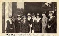 Girls going to can at Angola Buffalo, NY, Sept. 28, 1918