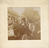 John Mitchell in a carriage at Mt. Carmel, Pennsylvania