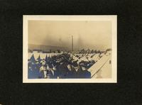 View of crowded tent encampment at an unidentified location (1)