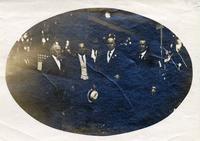 Group photo with John Mitchell, Assumption, Ill., (1908?)