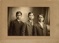 John Mitchell's sons: Robert Mitchell, James Mitchell, and Richard Mitchell (l to r)