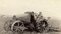 Margaret Miller on a tractor