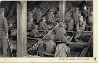 """Interior of mine with """"breaker boys"""" at work"""