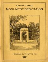 John Mitchell monument dedication: Souvenir booklet