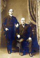 John Mitchell and John Fallou (duplicate): Photograph, 50 Public Square, Wilkes-Barre, Pennsylvania