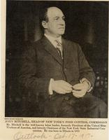 Newsclipping: John Mitchell from Outlook; October 17, 1917