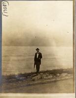 John Mithell on an unidentified breakwater