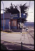 """Antartida"", Argentina sign in neighborhood"