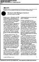 The Death of the Washington Consensus?