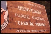 """""""Cabo de Hornos"""" National Park welcome sign"""