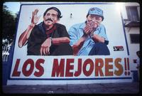 """The Best"" re-election billboard with President Daniel Ortega and Vice President Sergio Ramírez, Managua, Nicaragua"