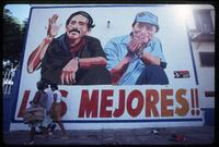 """The Best"" re-election billboard for President Daniel Ortega and Vice President Sergio Ramírez, Managua, Nicaragua"