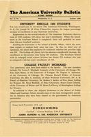 American Alumni Bulletin, Volume 12, Issue 01, October 1936