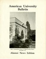 American Alumni Bulletin, Volume 16, Issue 02, November 1940
