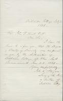 Letter from Secretary of the Board of Trustees at Dickinson College to John F. Hurst, 03 July 1866