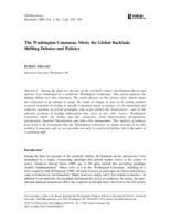 The Washington Consensus Meets the Global Backlash: Shifting Debates and Policies