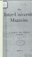 The Inter-University Magazine. Vol. 1