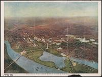 Bird's-eye picture of the city of Washington - the capital of our country, and the most popular tourist resort