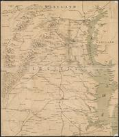 Bird's eye view map of northeastern Virginia and southern Maryland